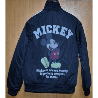 【身幅:51cm】ディズニー ミッキー ジャンパー mens M 黒 古着 美品