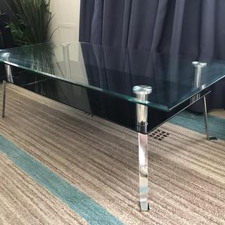 モダン ガラステーブル(ローテーブル)