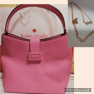 kate spade new york - ケイトスペード kate spade レザー トートバッグ ネックレス ピンク