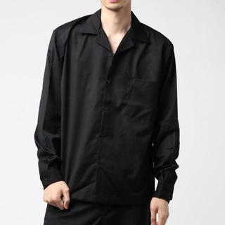 SEVENDAYS=SUNDAY  オープンカラーシャツ  ブラック 長袖 S