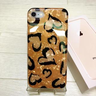 ハート 豹柄 シェル ❤︎ iPhone7/8 ケース おしゃれ