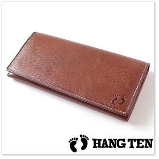 ハンテン(HANG TEN)の新品 ハンテン 実売5500円 水牛革 長財布 薄茶(長財布)