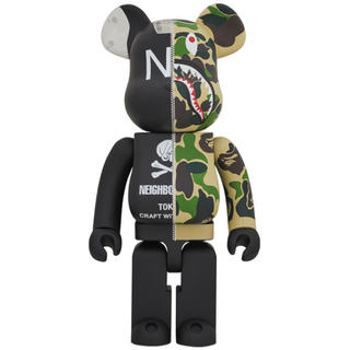 A BATHING APE - BE@RBRICK BAPE NEIGHBORHOOD 1000%