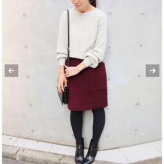 イエナ(IENA)のソフトモッサー台形スカート(ひざ丈スカート)