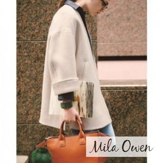 ミラオーウェン(Mila Owen)のMila Owenミラオーウェン バックボリュームコート ノーカラー(ロングコート)
