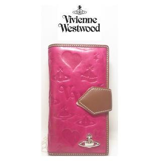 ヴィヴィアンウエストウッド(Vivienne Westwood)の大人気【新品】Vivienne Westwood チェリーピンク手帳型財布 本物(財布)