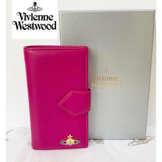 ヴィヴィアンウエストウッド(Vivienne Westwood)の大人気!【新品】Vivienne Westwood 手帳型財布 ピンク/赤 本物(財布)