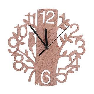 新品未使用★木製時計 かわいい  鳥と木の組合 20(掛時計/柱時計)