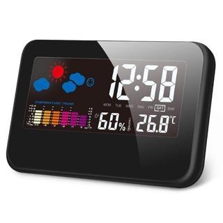 新品★ 目覚まし時計  温度計 湿度計 最高最低温湿度/温度  24(掛時計/柱時計)