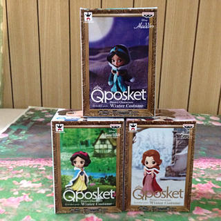 Disney - ディズニー【Qposket/ベル.ジャスミン.白雪姫/ウィンターVr.】セット