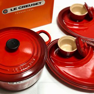 ルクルーゼ(LE CREUSET)のルクルーゼ   ココットロンド&マルチオーバルプレートセット(鍋/フライパン)