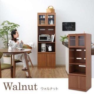 シンプル大容量! 食器棚 キッチンラック(キッチン収納)