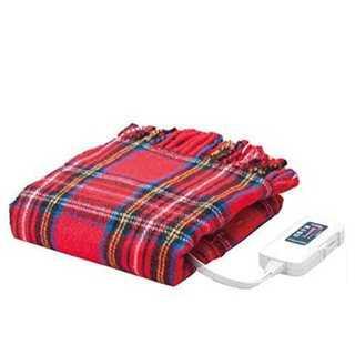 ★送料無料★電気ひざ掛け毛布 レッド 140×82cm(電気毛布)