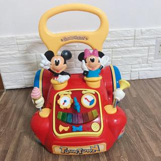 ディズニー(Disney)のDisney☆ディズニー ミッキー 手押し車 歩行器 (歩行器)