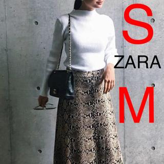 ザラ(ZARA)のZARA  スネークスキン パイソン柄 スカート(ロングスカート)