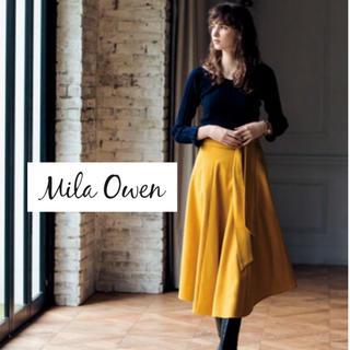 Mila Owen - MilaOwen カタログ掲載 ウエストゴムシャーリングフレアスカート イエロー