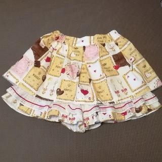 シャーリーテンプル(Shirley Temple)のシャーリーテンプル チョコビスケットキュロット 120(スカート)