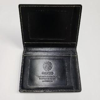 ガンゾ(GANZO)のガンゾ GANZO 定期入れ パスケース カードケース レザー ブラック(名刺入れ/定期入れ)