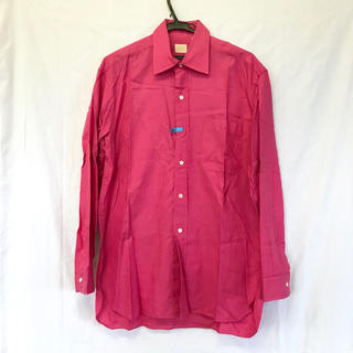 タケオキクチ(TAKEO KIKUCHI)の美品 【タケオキクチ 】 ピンクシャツ ワイシャツ クリーニング済み コットン(シャツ)