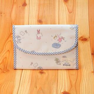 ジェラートピケ(gelato pique)の定価以下❤️ 【ジェラートピケ】パジャマパーティー柄母子手帳ケース(ブルー)(母子手帳ケース)