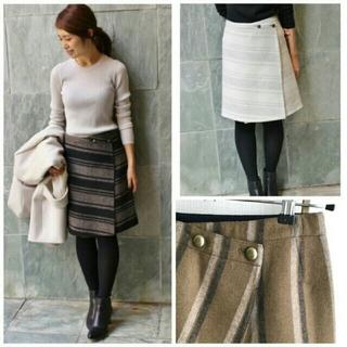 イエナ(IENA)の【IENA】wool リバーシブルスカート(ひざ丈スカート)
