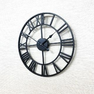 アイアンフレーム 掛け時計 アンティーク壁掛け時計(掛時計/柱時計)