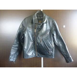 バンソン(VANSON)のVANSON バンソン/ グレインレザー ライダース ブラック Size 40(ライダースジャケット)