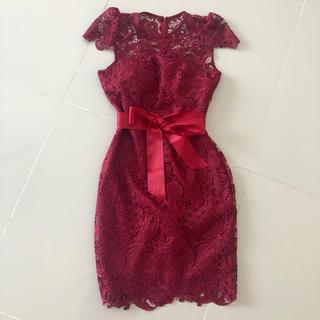 デイジーストア(dazzy store)の総レース ワインカラー キャバ ドレス(ナイトドレス)