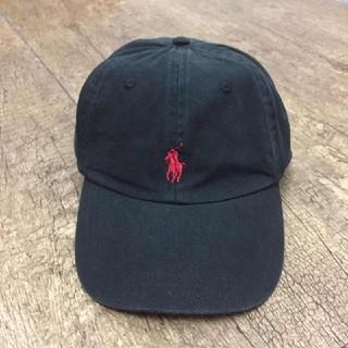 ラルフローレン(Ralph Lauren)の新品 Ralph Laurenラルフローレンキャップ ブラックxレッドポニー (キャップ)