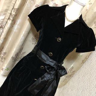 クチュールブローチ(Couture Brooch)のクチュールブローチ♦︎ベルベットワンピース♦︎新品未使用(ひざ丈ワンピース)