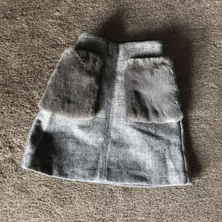GU - 未使用★GUボアポケットスカート130