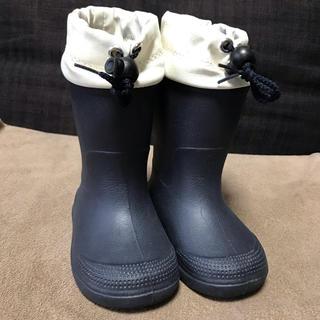 MUJI (無印良品) - 無印良品 キッズブーツ 12〜13cm ネイビー 長靴