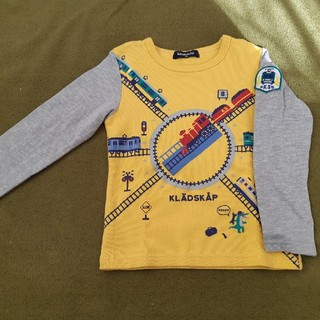 クレードスコープ(kladskap)のクレードスコープ 電車 ロンT110㎝(Tシャツ/カットソー)