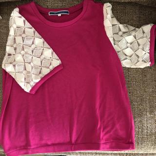 ジエンポリアム(THE EMPORIUM)のピンク 半袖カットソー L(カットソー(半袖/袖なし))