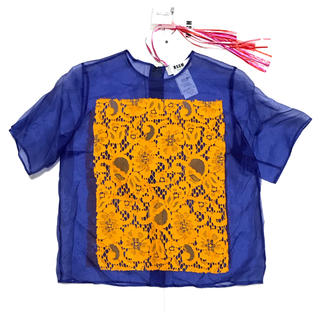 エムエスジイエム(MSGM)の【新品】MSGM エムエスジーエム シルク 半袖 シャツ 38(シャツ/ブラウス(半袖/袖なし))