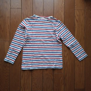 デニムダンガリー(DENIM DUNGAREE)のデニム&ダンガリー ボーダー9分袖カットソー 140cm(Tシャツ/カットソー)
