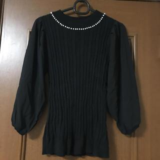 ナイスクラップ(NICE CLAUP)のナイスクラップ パール飾りセーター(ニット/セーター)
