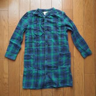 デニムダンガリー(DENIM DUNGAREE)のデニム&ダンガリー チェックシャツ(ヒザ丈) 140cm(ワンピース)