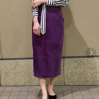 Drawer - ブルーバードブルバード スウェードスカート   S 紫 パープル ロンハーマン
