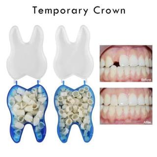 デンタルピース 50ピース 抜け歯や欠け歯にも◎ 義歯 差し歯(口臭防止/エチケット用品)