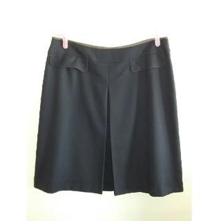 アールユー(RU)の台形スカート ブラック 大きいサイズ(ひざ丈スカート)