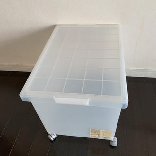 ムジルシリョウヒン(MUJI (無印良品))の無印良品 キャリーボックス キャスター付(ケース/ボックス)