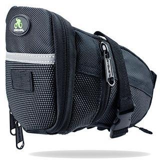 大容量サドルバッグ防水 ストラップ式 装着簡単 サイズ調整可能 自転車シートバッ(バッグ)