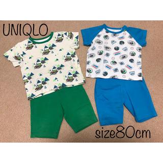 ユニクロ(UNIQLO)の子供服 ユニクロ パジャマ 半袖 トーマス パーシー 80cm(パジャマ)
