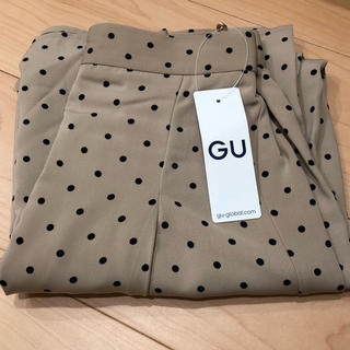 GU - GU ドット ワイドパンツ ジーユー ワイドパンツ ワイド パンツ 水玉 GU