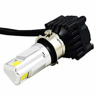 HooMoo バイク用LEDヘッドライト 三面発光 直流交流兼用 H4 H6 P(その他)