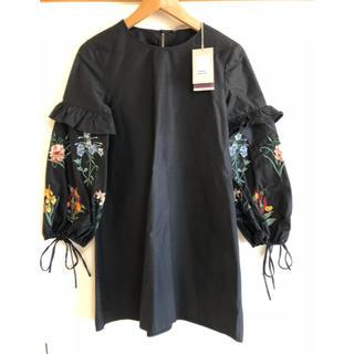 ZARA - ZARA 新品タグつき 刺繍 ワンピ ワンピース