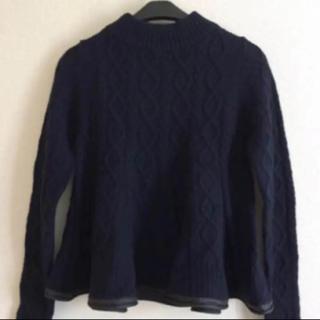 サカイラック(sacai luck)の☆お値下げ☆sacai luck サカイラック セーター 紺色(ニット/セーター)