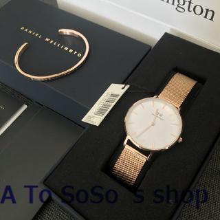 ☆DW 大人気 セット 32MM 時計とバングル ローズゴールド