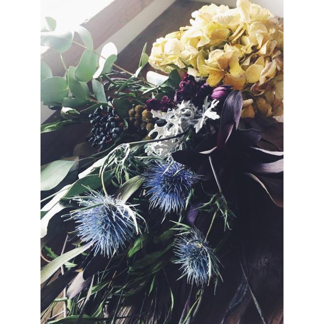 紫陽花 リューカデンドロンのシャビースワッグ shabby natural  ハンドメイドのフラワー/ガーデン(ドライフラワー)の商品写真